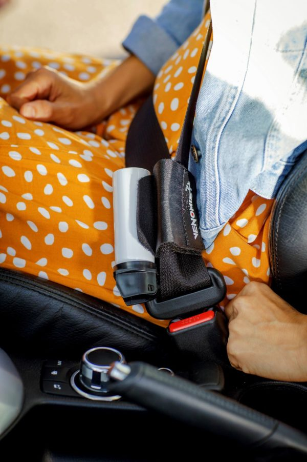 Rattler seatbelt and pepper spray system for the car